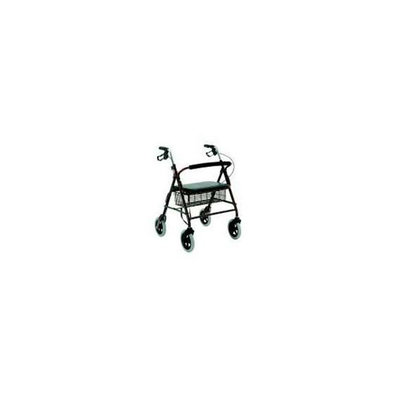 Merits W467RED 4-Wheeled Baratric Rollator  Heavy Duty  Aluminum  Loop Brake - Red