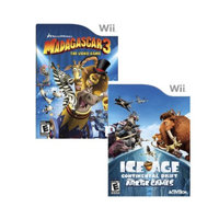 Nintendo Wii Game Madgscar3+IceAge Drift