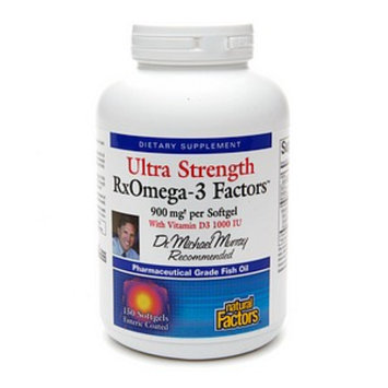 Natural Factors Ultra Strength RxOmega-3 Factors with Vitamin D3 1000 IU