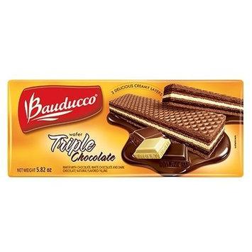 Bauducco Triple Chocolate Wafer - 5.82 oz | Biscoito Wafer Bauducco Sabor Triplo Chocolate- 165g - (PACK OF 08)