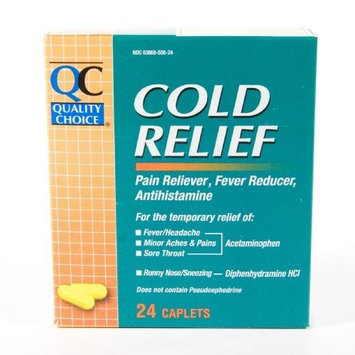 Quality Choice Cold Relief Caplet, 24-Count Boxes (Pack of 6)