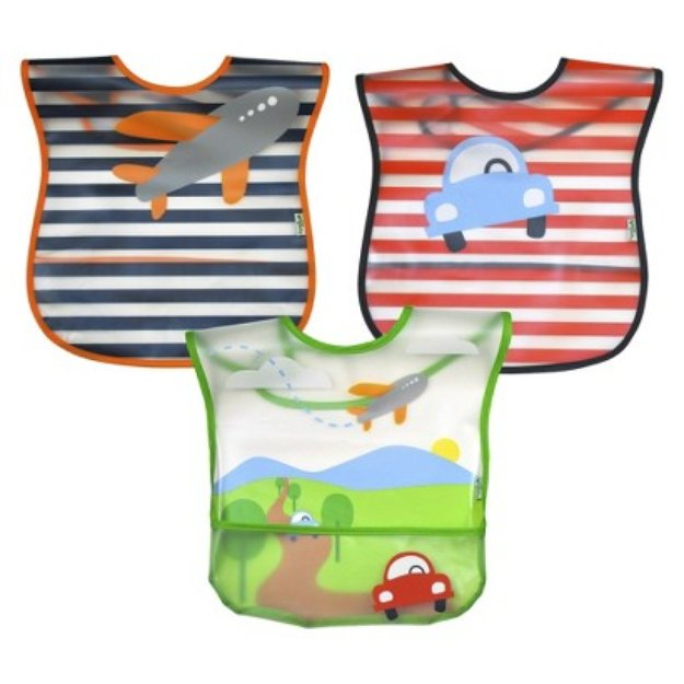 Green Sprouts green sprouts 3 Pack Bib - Transportation