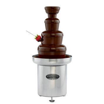 Nostalgia Electrics CFF-552 Commercial Stainless Steel Chocolate Fondue Fountain