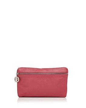 Le Pliage Leather Cosmetics Case, Malabar - Longchamp - Malabar