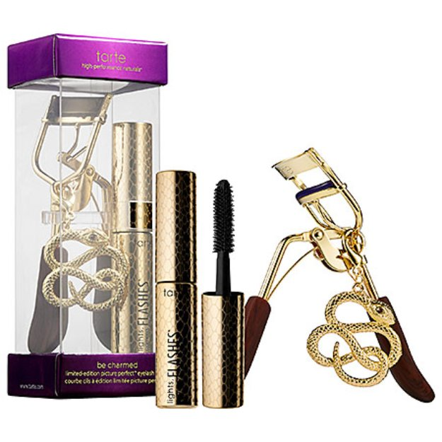tarte be charmed limited-edition picture perfect eyelash curler + deluxe lights, camera, flashes statement mascara