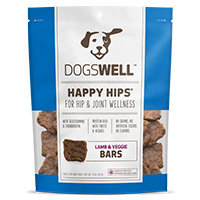 Dogswell Happy Hips Lamb & Veggies Jerky Bars Dog Treats