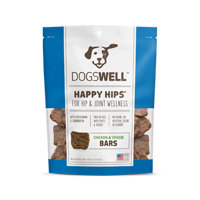 Dogswell Happy Hips Chicken & Veggies Jerky Bars Dog Treats