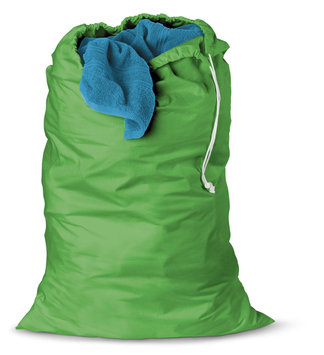 Honey Can Do (SET OF 2) Jersey cotton laundry bag - Green