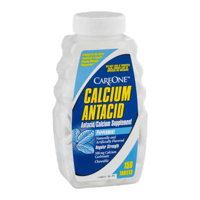CareOne Calcium Antacid Tablets Peppermint - 150 CT