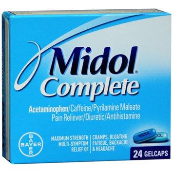 Midol Complete Pain Relief/Stimulant/Diuretic Gelcaps