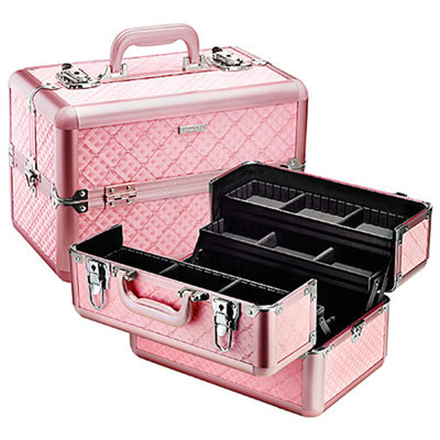 SEPHORA COLLECTION Embossed Traincase - Pink Quilted 14