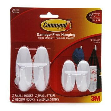 3M Command Strips Damage-Free Hanging Hook Set