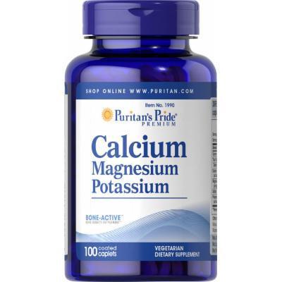 Puritan's Pride Calcium Magnesium Potassium-100 Caplets