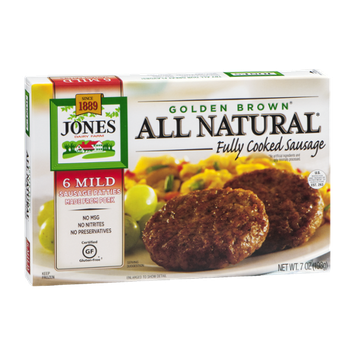 Jones Golden Brown All Natural Fully Cooked Sausage Mild - 6 CT