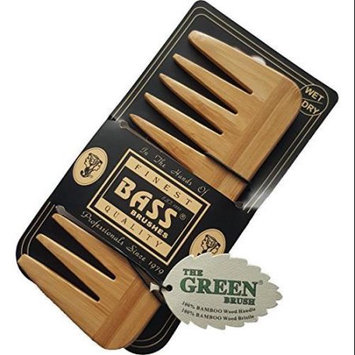 BASS BRUSHES NEW Natural Brown Wood Wooden Medium Wide Tooth Hair Styling Comb
