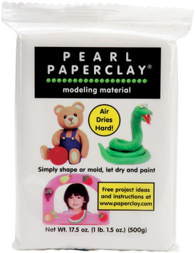 Creative Paperclay 157049 Pearl Paperclay 16 Ounces-White