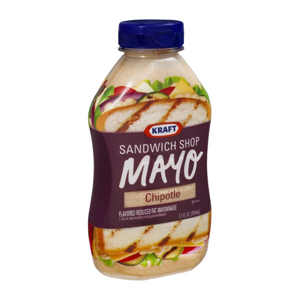 Kraft Sandwich Shop Mayo Chipotle Flavored Reduced Fat Mayonnaise