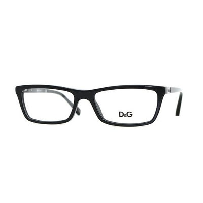 Dolce & Gabbana Eyeglasses DD 1215 501 Black 50MM