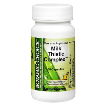 Botanic Choice Milk Thistle Complex Herbal Supplement Capsules