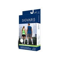 Sigvaris Men's and Women's 15-20mmHg Athletic Recovery Sock Size: Men's Size D, Color: White 00