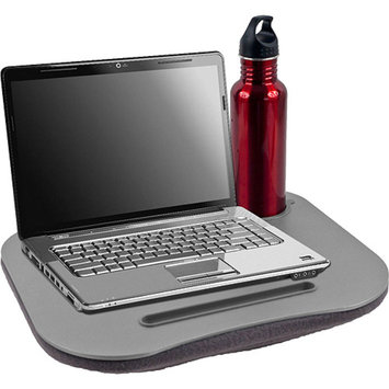 Laptop Buddy TG Cushioned Desk with Pen and Cup Holder, Gray