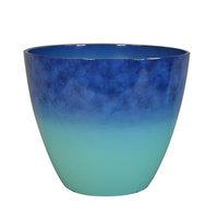 allen + roth Blue Plastic Planter P13012211243-WI03