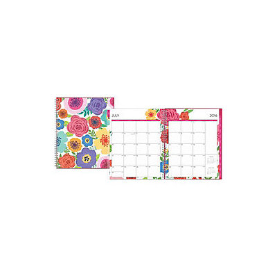 Blue Sky(TM) Fashion Wire-O Weekly/Monthly Planner, 8 1/2in. x 11in, Mahalo, July 2016 to June 2017