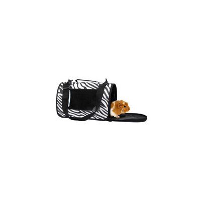 Life's Fur-tas-tic Zebra Print Small Animal Carrier, 13