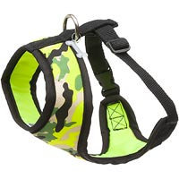 Petco Pup Crew Sport Neon Yellow Camo Dog Harness, Small