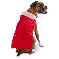 Petco Pup Crew Quilted Red Dog Jacket, XX-Small