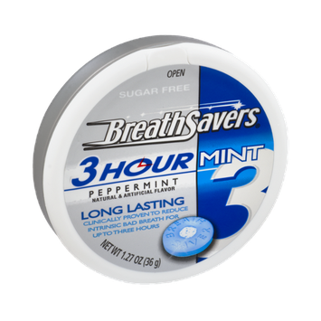 Breath Savers 3 Hour Peppermint Sugar Free Mints