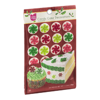 Cake Mate Candy Cake Decorations - Christmas - 24 CT