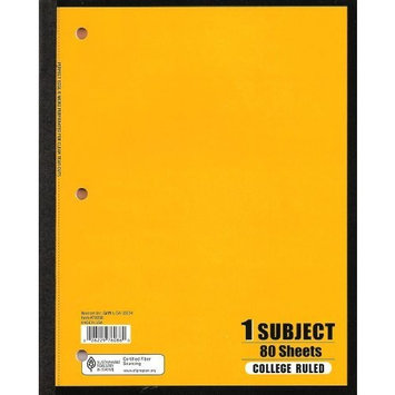 Norcom 1-Subject Notebook, 10.5 x 8 Inches, College Ruled, 80 Sheets (76086-24)