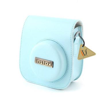 PU Leather Camera Shoulder Strap Bag Case Pouch For Fujifilm Instax Mini8 Blue