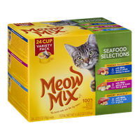 Meow Mix Seafood Selections Cat Food Variety Pack - 24 CT