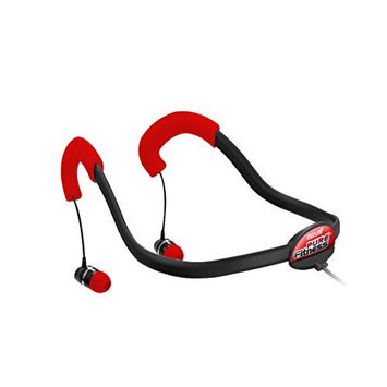 Maxell Pure Fitness Neck Buds with Mic - Stereo - Black - Wired - Behind-the-neck - Binaural - In-ear
