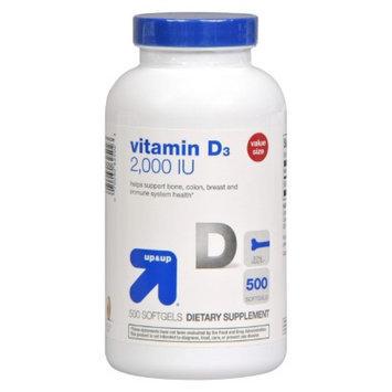 up & up up&up Vitamin D 2000 iu Softgels - 500 Count