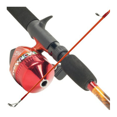 Trademark Global South Bend Worm Gear Red Fishing Rod & Spincast Reel Combo