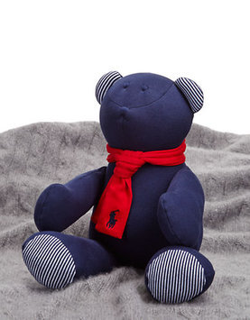 Ralph Lauren Childrenswear Striped Plush Bear with Scarf-FRENCH NAVY-One Size