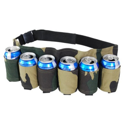 Big Mouth Toys Redneck 6 Pack Beer and Soda Can Holster Belt - Camouflage