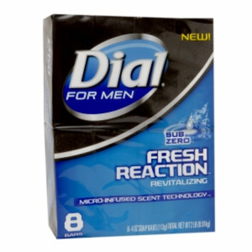 Dial For Men Dial for Men Soap Bars Fresh Reaction, 4 oz, Sub Zero, 8 ea