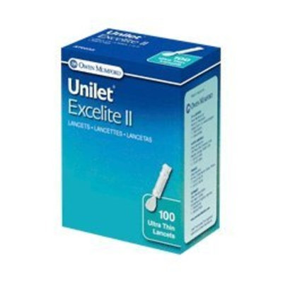 Owen Mumford Unilet Excelite II, 28G, 100 per Box (OWAT0535) Category: Lancets