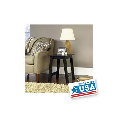 Mainstays End Table, Black Oak Finish