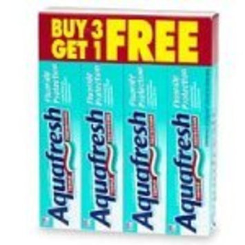 Aquafresh Triple Protection Toothpaste with Fluoride, Buy Three 8.2 oz Tubes Get One Free - 4 tubes