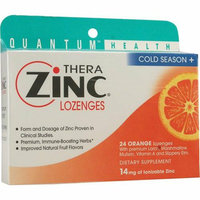 Quantum Research Quantum TheraZinc Cold Season Plus Lozenges Orange 14 mg 24 Lozenges