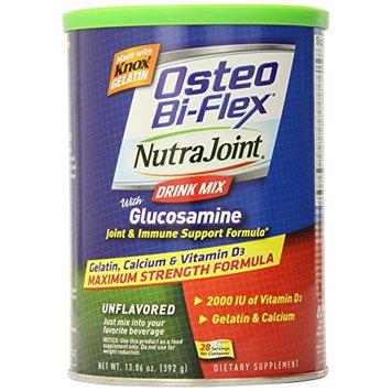 Osteo Bi-Flex NutraJoint Plus Glucosamine Drink Mix, Maximum Strength Formula, Unflavored, 13.86 Ounces