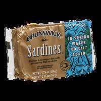 Brunswick Sardines in Spring Water No Salt Added
