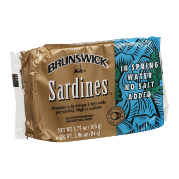 Brunswick Sardines in Spring Water No Salt Added