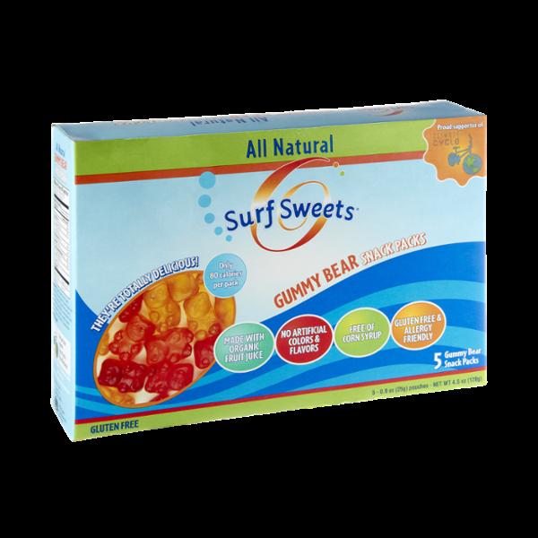 Surf Sweets Gluten Free Gummy Bear Snack Packs - 5 CT