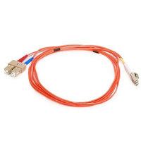 Monoprice Fiber Optic Cable, LC/SC, OM1, Multi Mode, Duplex - 2 meter (62.5/125 Type) - Orange